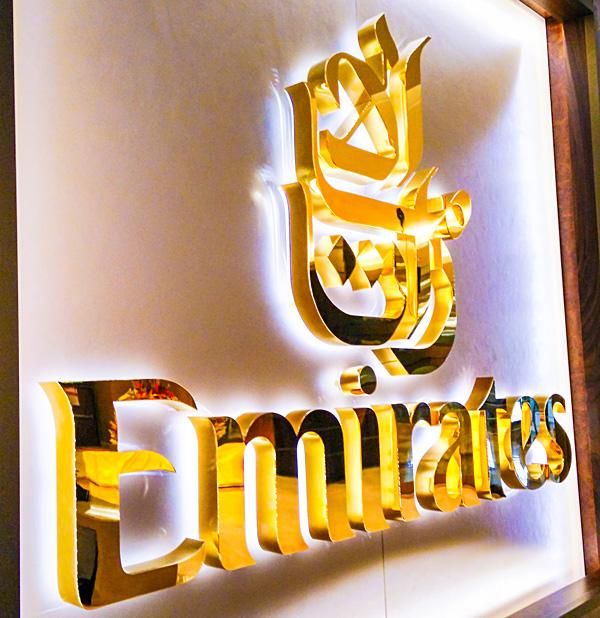 Emirates First Class Lounge Dubai Logo