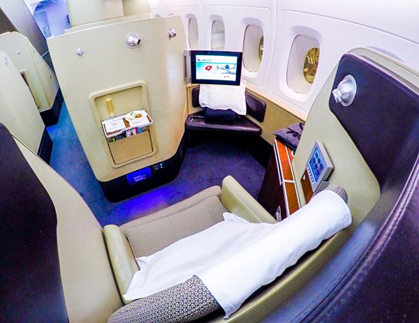 Qantas First Class A380 Seat 3K