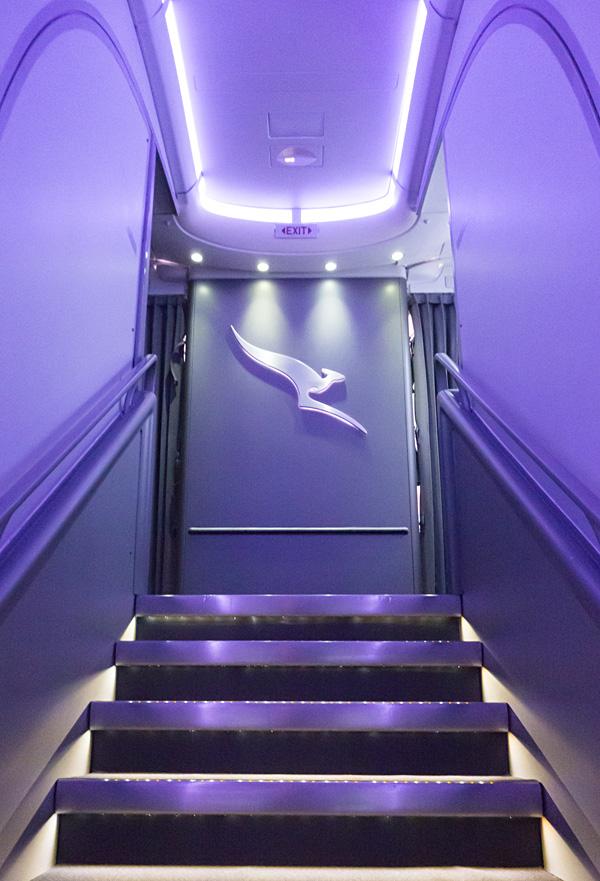 Qantas First Class A380 Staircase