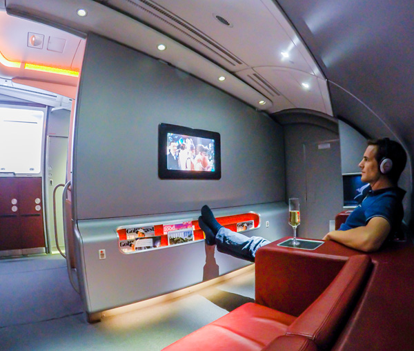 Qantas First Class A380 Upper Deck