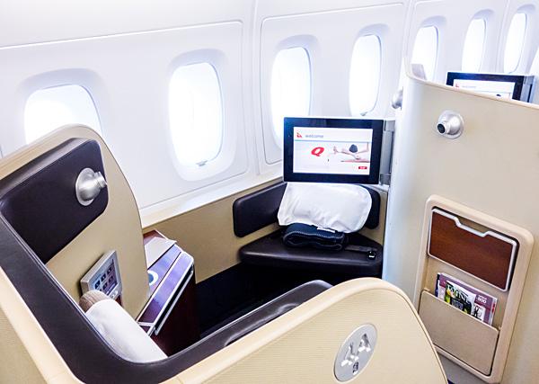 Qantas First Class Seat 4A London Dubai on A380