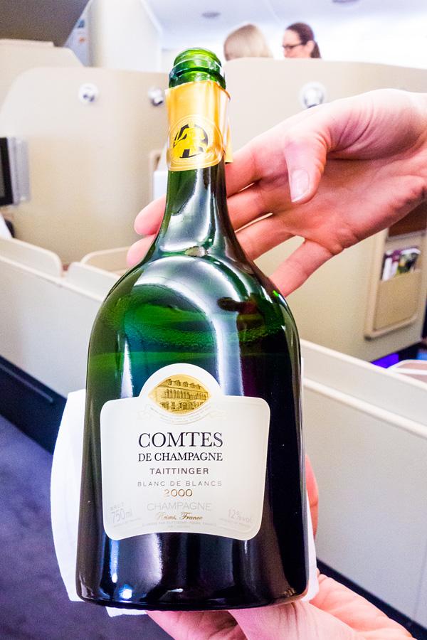 2000 Taittinger Comtes de Champagne Blanc de Blanc Qantas First Class
