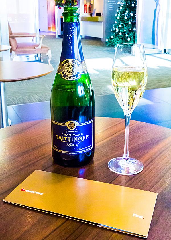 Taittinger Prelude Champagne British Airways Galleries First lounge Terminal 3 London Heathrow