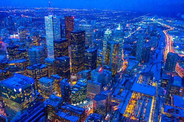 View from CN Tower Toronto Canada