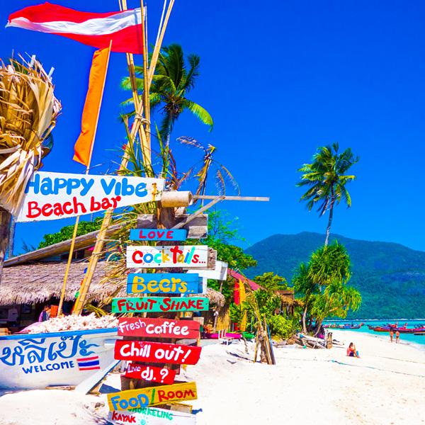 Happy Vibe Beach Bar Sunrise Beach Koh Lipe
