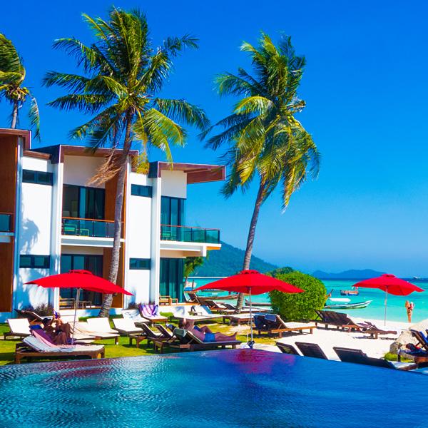 Idyllic Concept Resort Pool Sunrise Beach Koh Lipe