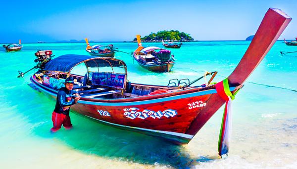 Longtail boat to Ko Adang Ko Lipe Thailand