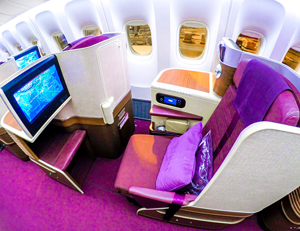 Thai Airways Royal Silk Business Class B77W B777-300ER Bangkok Brisbane