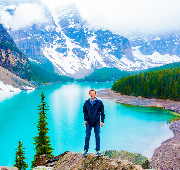Bart Lapers at Moraine Lake Banff National Park Canada