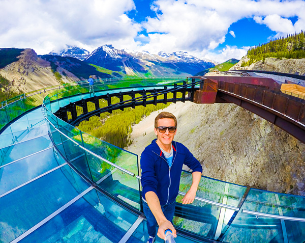 Bart Lapers at Glacier Skywalk Jasper National Park Cananda