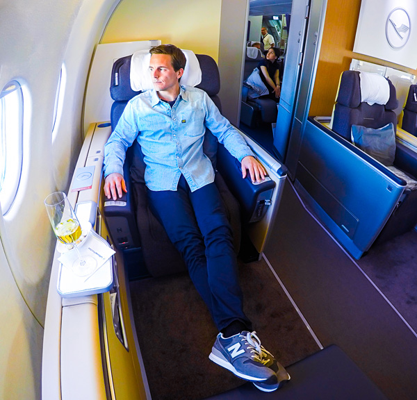 Bart Lapers Lufthansa First Class seat 2K A330-300