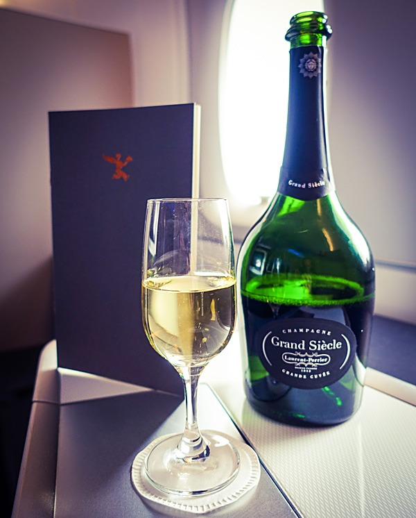 British Airways First Class Laurent-Perrier Grand Siecle Champagne