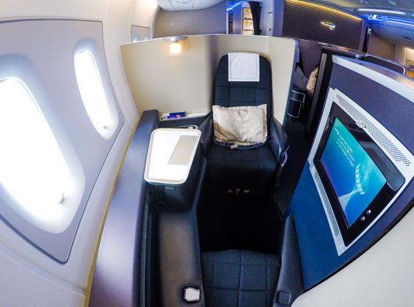 British Airways A380 First Class seat 3K
