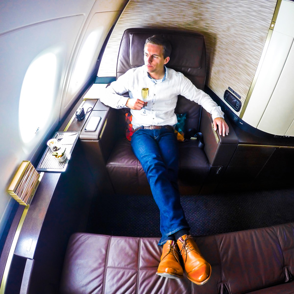 Etihad Airways A380 First Class Apartment Bart Lapers seat 4K