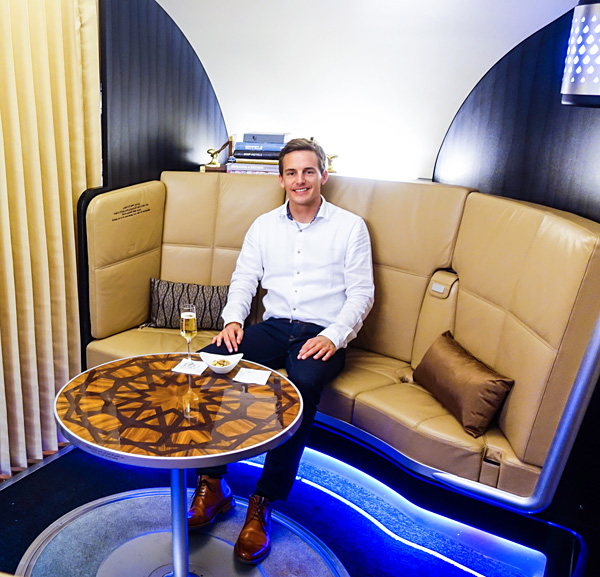 Etihad Airways A380 Upper Deck The Lobby