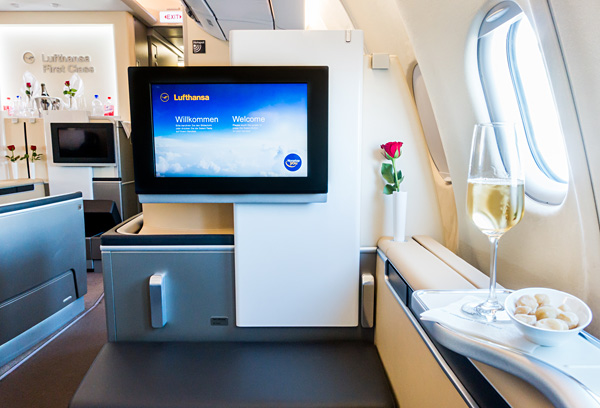 Lufthansa First Class A330-300 Seat 2K