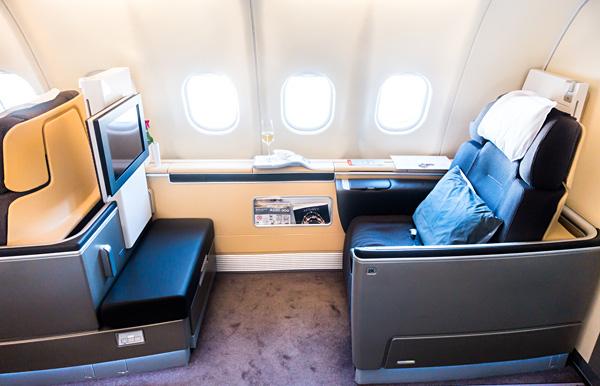 Lufthansa First Class seat 2K on A330-300