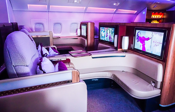 Qatar Airways A380 First Class cabin seat 2E