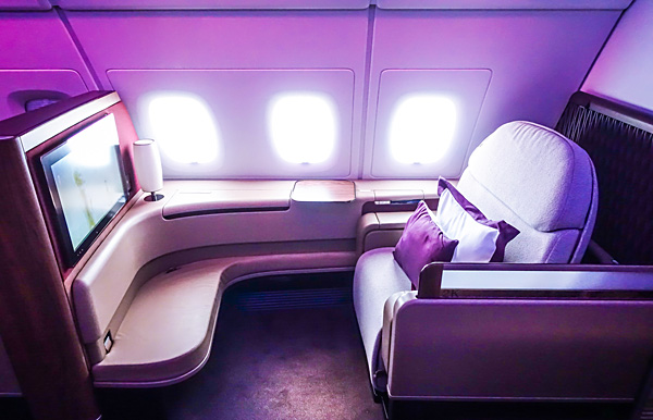 Qatar Airways A380 First Class Seat 2K