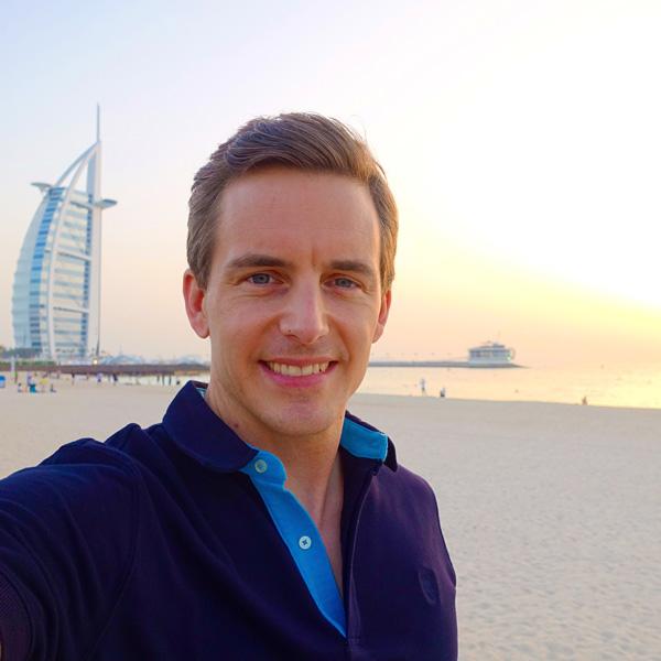 Sunset at Burj Al Arab in Dubai