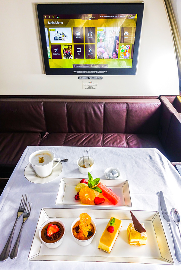 The Etihad Airways First Class Dessert Taster