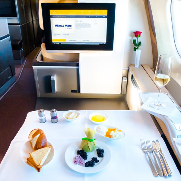 Lufthansa First Class A330-300 Caviar Service