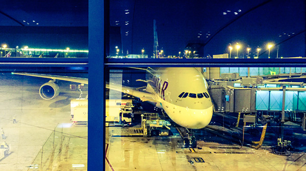 Qatar Airways A380 Doha to Bangkok