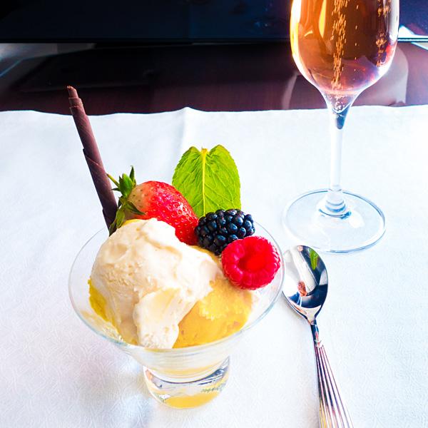 Qatar Airways Business Class Gourmet Icecream
