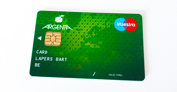 Argenta Maestro debit card