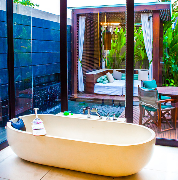 Bathroom with a view W Retreat Spa Bali