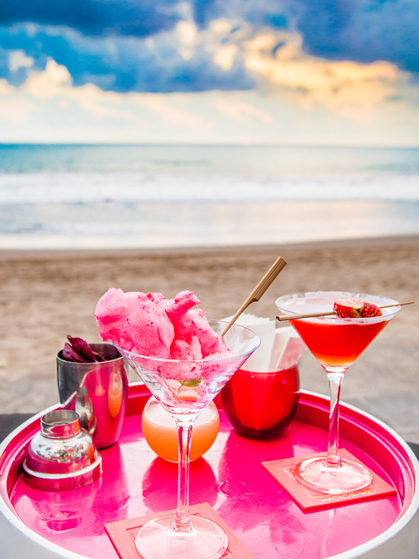 Cocktails at WOOBAR W Retreat Spa Bali