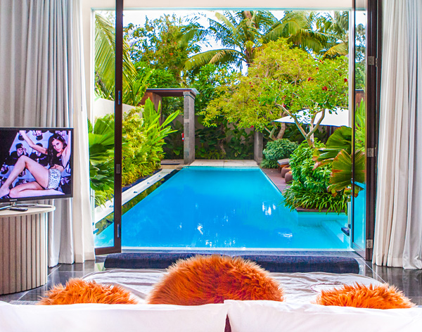 Master bedroom view W Retreat Spa Bali