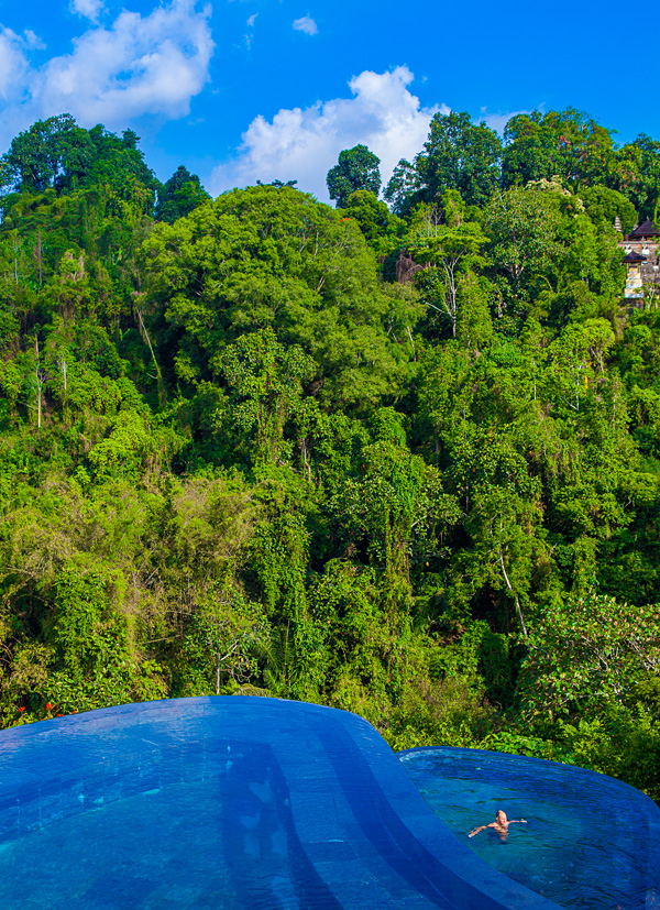 Swimming Pool at Hanging Gardens Ubud Bali Indonesia