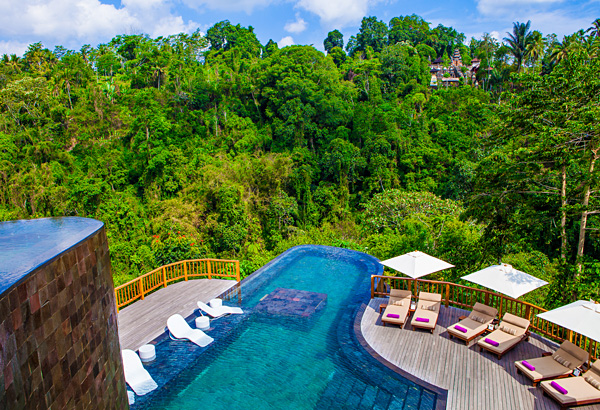 Swimming Pool at Hanging Gardens Ubud Bali