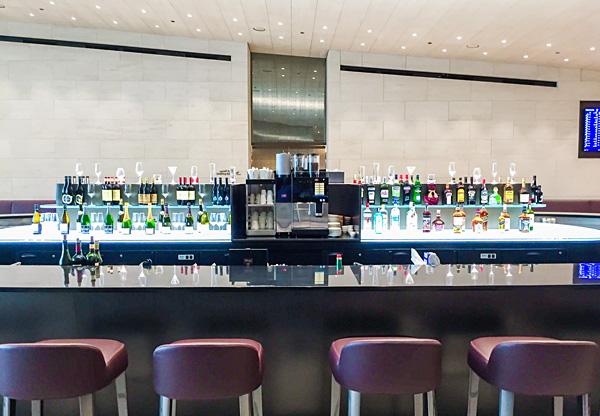 Bar at Qatar Airways First Class Lounge Al Safwa