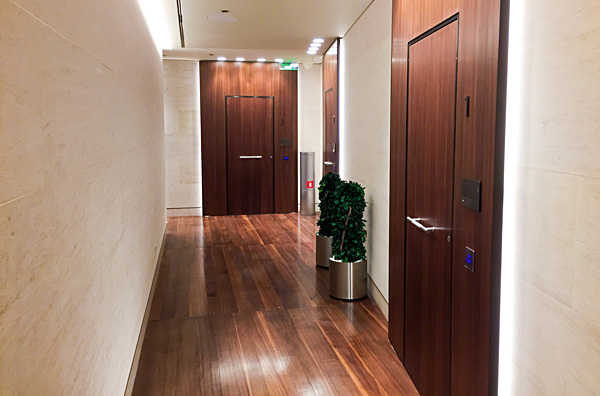 Qatar Airways First Class Lounge Al-Safwa Doha Showers and Sleeping rooms