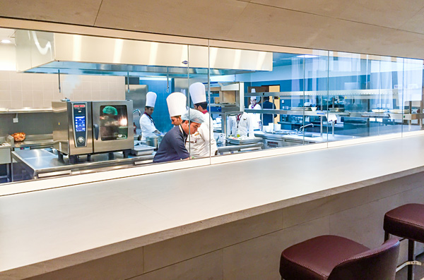 Qatar Airways First Class Lounge Doha Kitchen Al Safwa