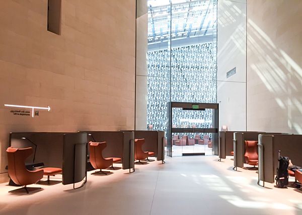 Qatar Airways First Class Lounge Doha seating area