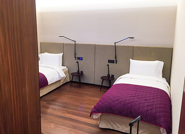 Qatar Airways First Class Lounge Al Safwa Doha Sleeping rooms