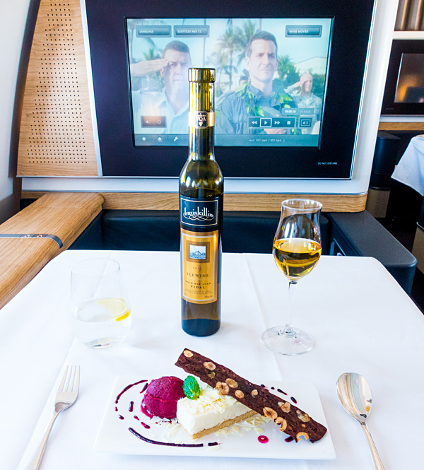 Swiss First Class Alpine Dream Dessert with Ice Wine