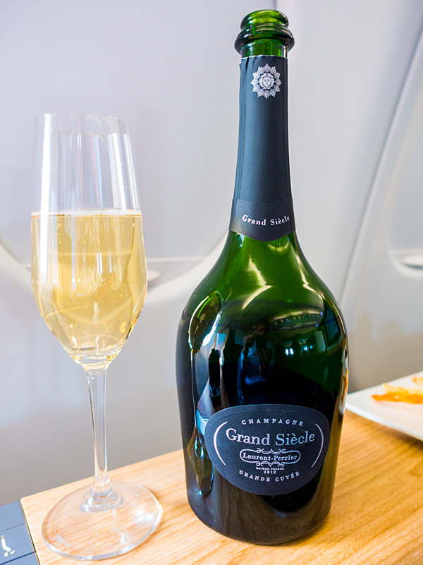 Swiss First Class Laurent Perrier Grand Siecle Champagne