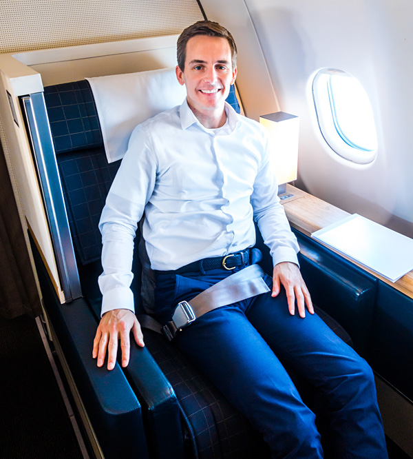 Swiss New First Class Cabin A330 Bart Lapers Seat 2A
