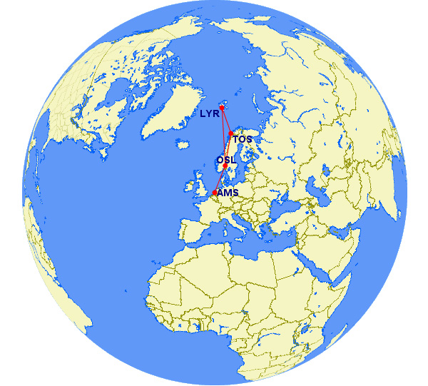 svalbard how to get to lonyearbyen flights airports