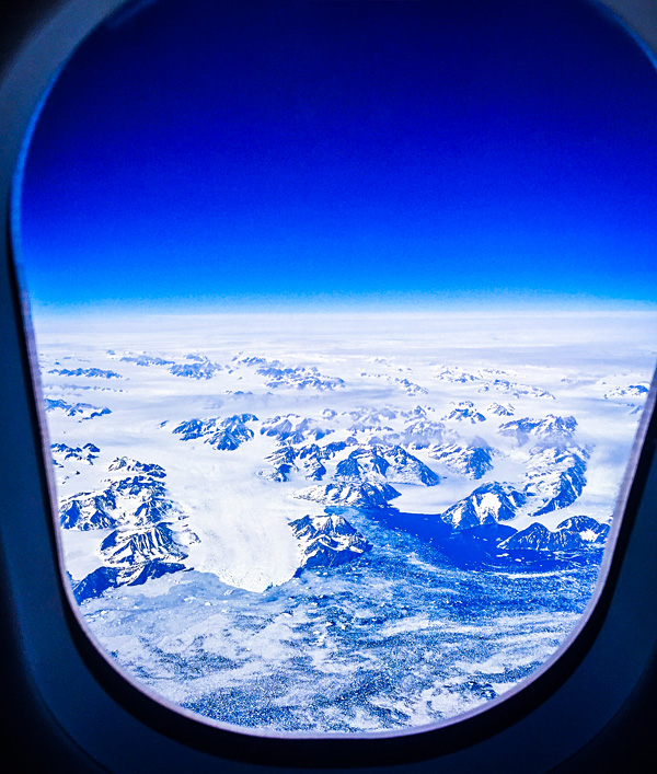Amazing views of Greenland from my Finnair flight