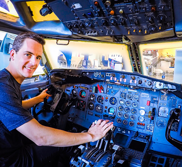 Bart Lapers at Boeing Future of Flight Aviation Center Everett Factory