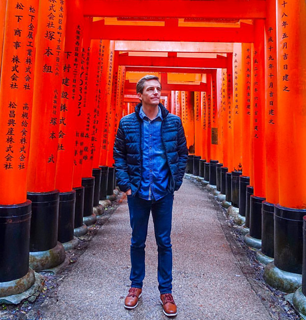 Bart Lapers at Fushimi Inari-taisha shrine in Kyoto, Japan