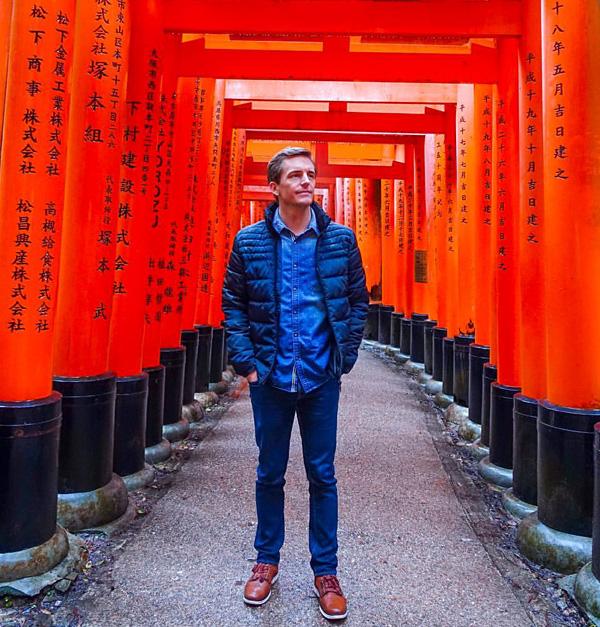 Bart Lapers at Fushimi Inari-taisha shrine in Kyoto, Japan
