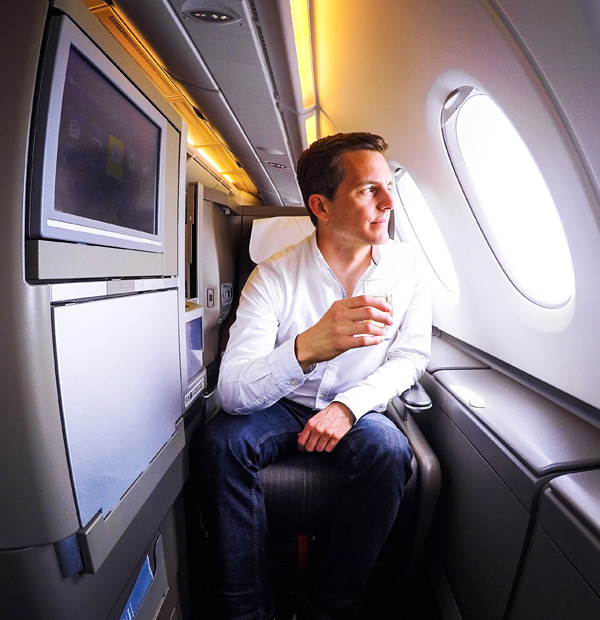 British Airways Business Class seat 53K Airbus A380