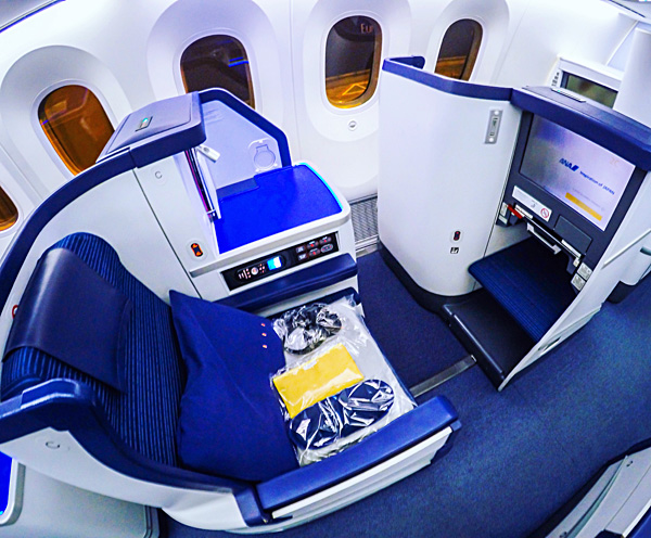Brussels Tokyo All Nippon Airways ANA B787 Dreamliner Business Class