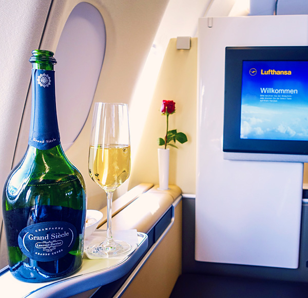 Laurent Perrier Grand Siècle ‎Lufthansa First Class ‎Champagne